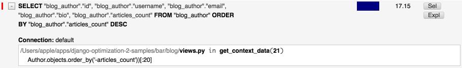 DDT - get top authors slice